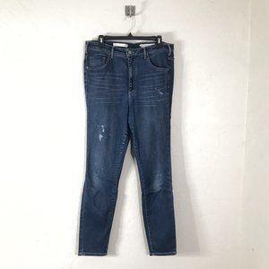 Anthro Pilcro Superscript Skinny Jeans Size 32